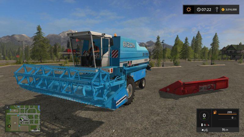 Farming simulator 17 BIZON BS-5110 + HEADERS V1 0 | Farming