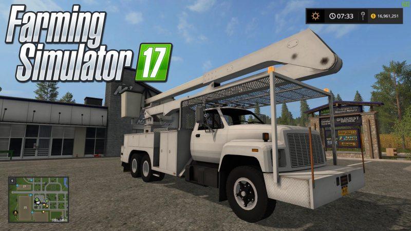 Farming simulator 2017 GMC TopKick Bucket Truck v1 0