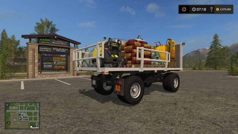 Farming simulator 17 HW-80 SERVICE TRAILER V1 0 - Farming simulator