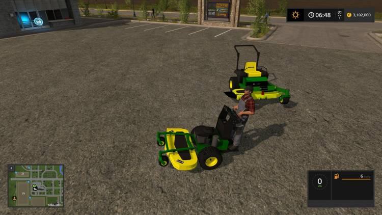 Farming simulator 2017 John Deere Zero turn Converted from